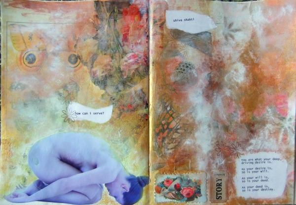 how can i serve meditation art journal