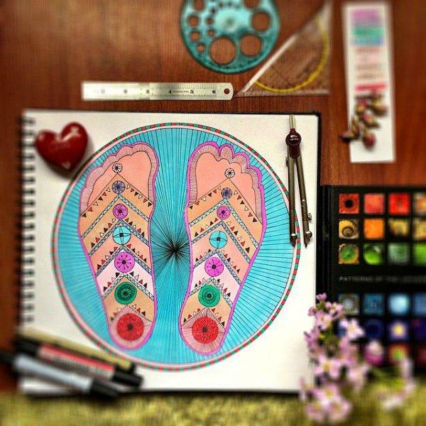 feet mandala