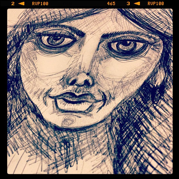 speed sketching graphite portrait