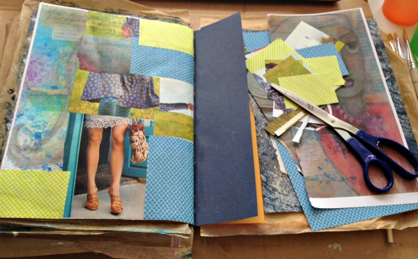 paper collage background