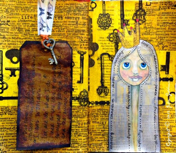 queen sovereignty art journal spread