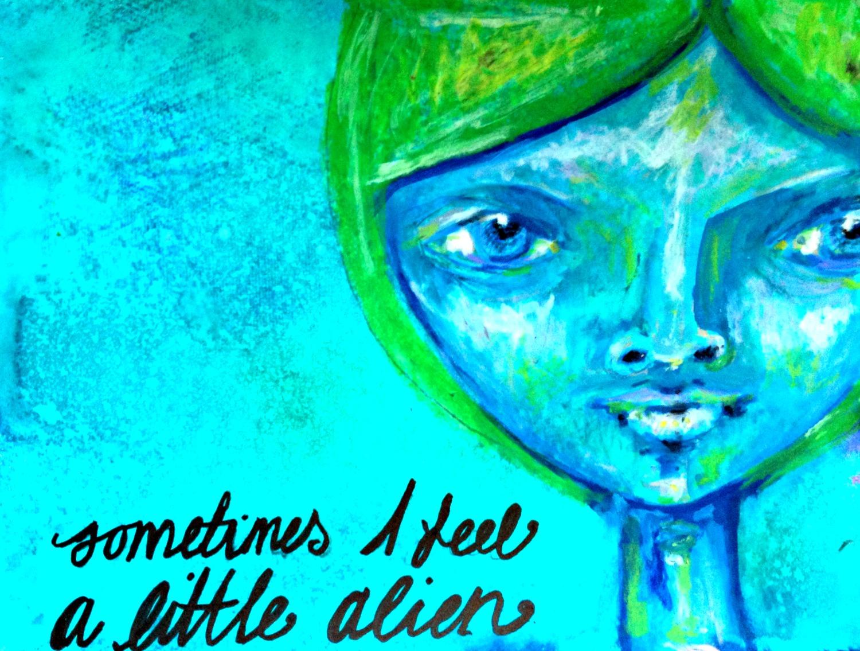 a little alien art video