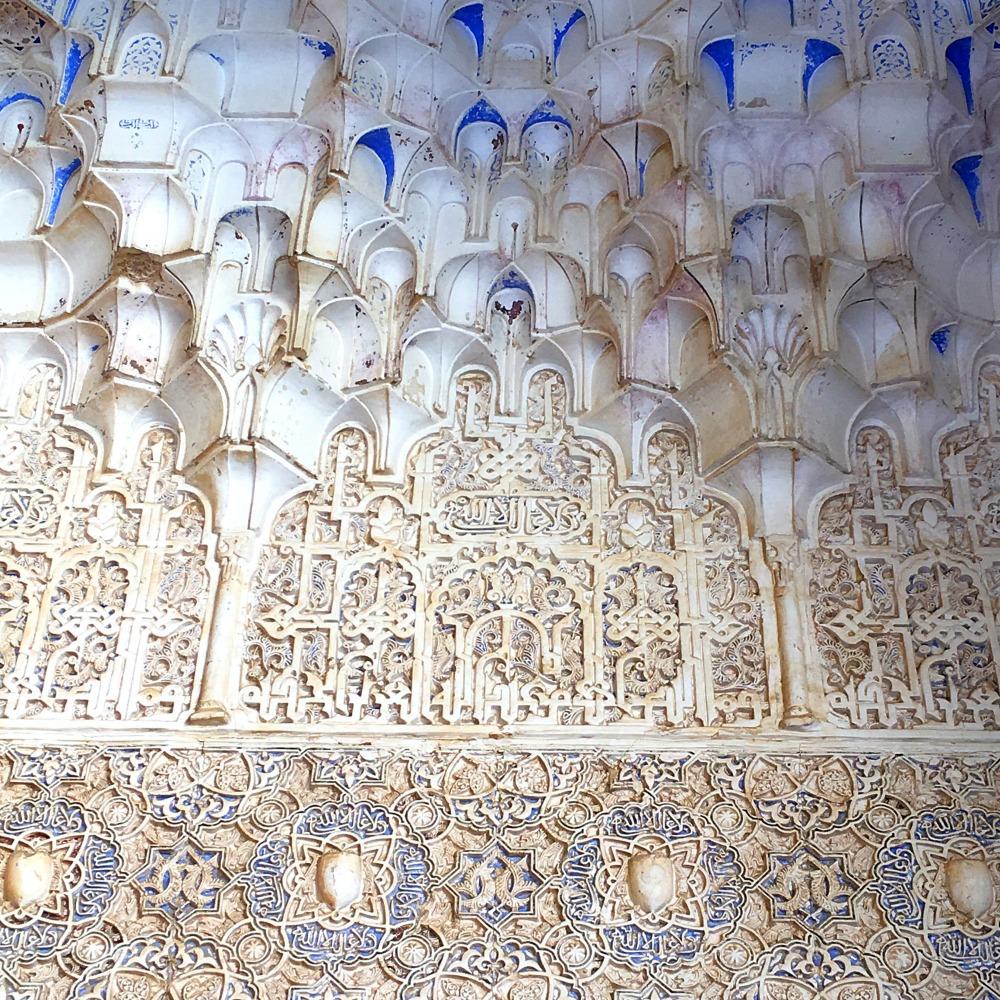 Plaster Carving Alhambra Granada