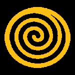 Spiral Orange Icon