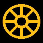 Wheel Orange Icon